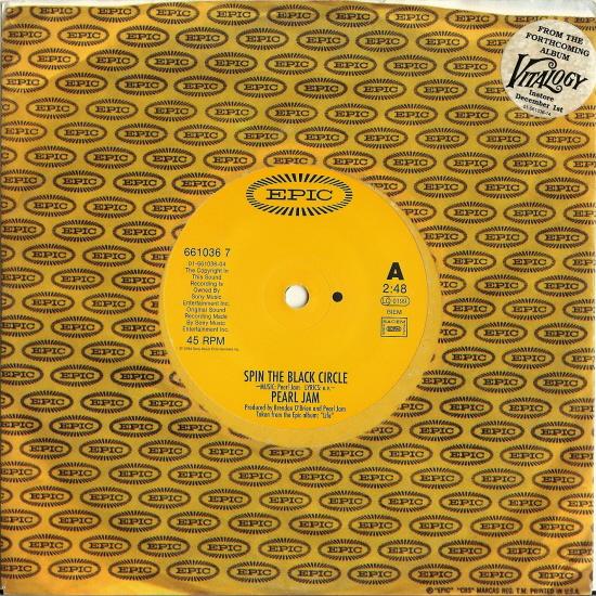 Pearl Jam Spin The Black Circle 7 Black Vinyl
