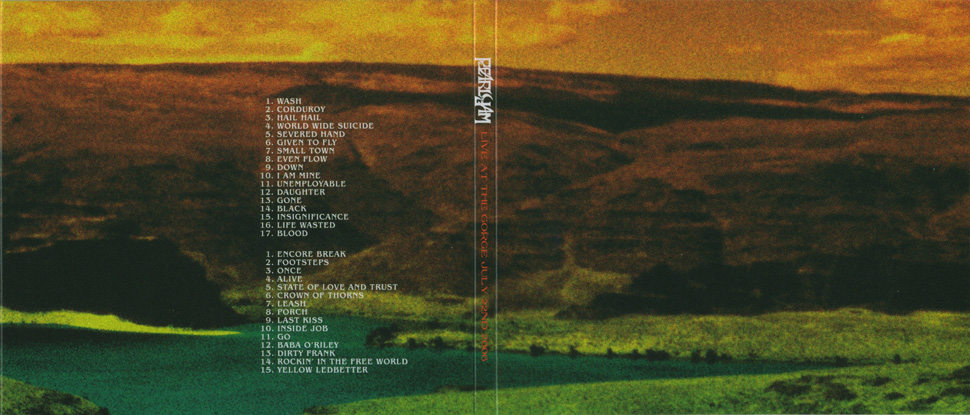 Pearl Jam - Live At The Gorge 05/06 (Ten Club) - 7 X 5'' CD