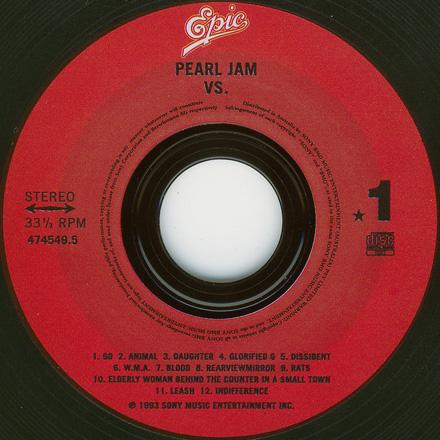pearl jam vs the vinyl classics 5 39 39 cd jewelcase in outer box australia cd album. Black Bedroom Furniture Sets. Home Design Ideas