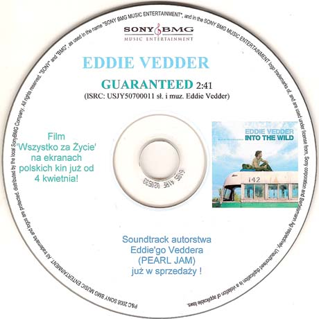 Eddie vedder guaranteed 5 39 39 cd r poland www for Fishs eddy coupon