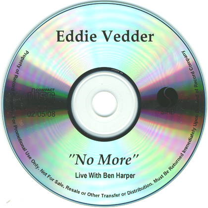 Eddie vedder no more live 5 39 39 cd r usa www for Fishs eddy coupon