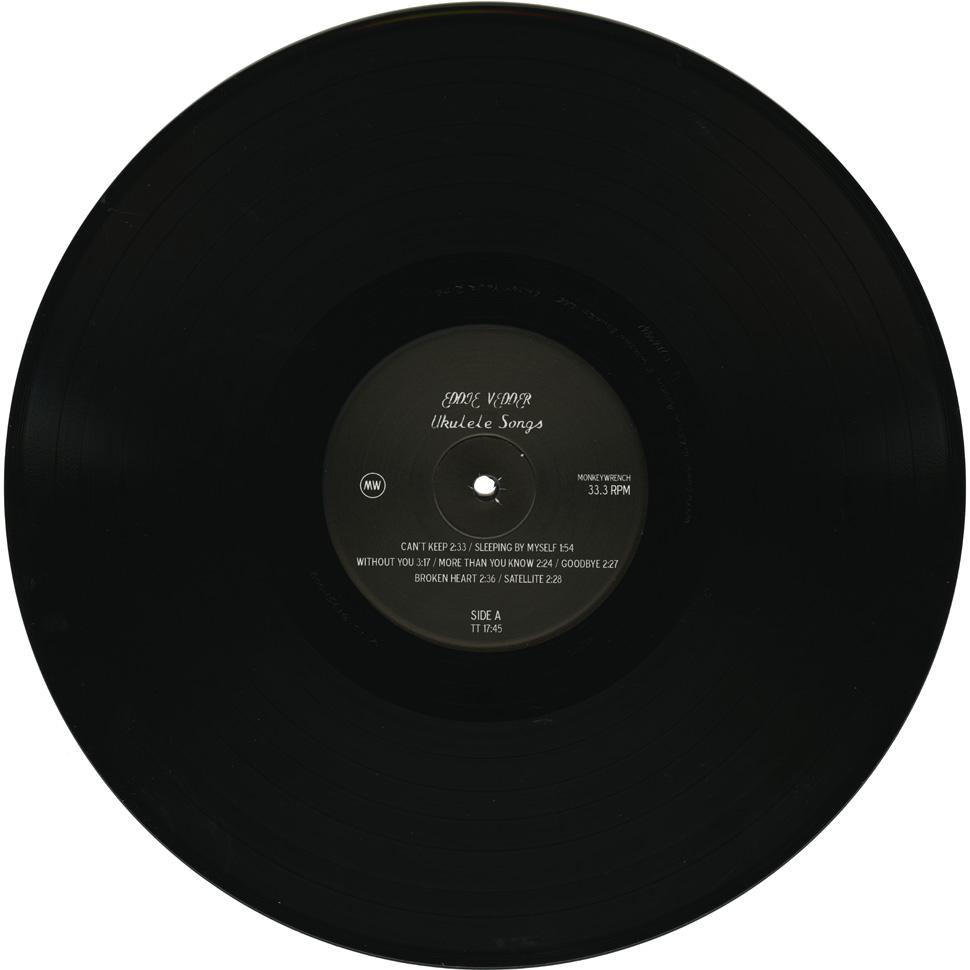 Eddie Vedder Ukulele Songs 12 Black Vinyl Gatefold