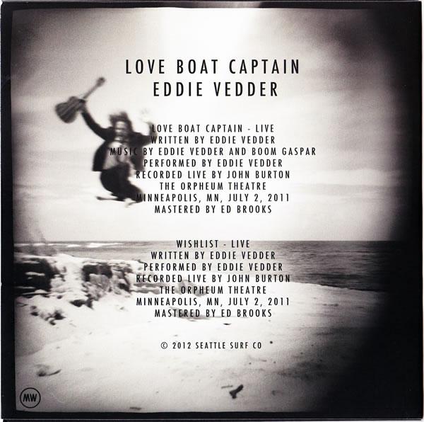 Eddie Vedder Love Boat Captain 7 Black Vinyl