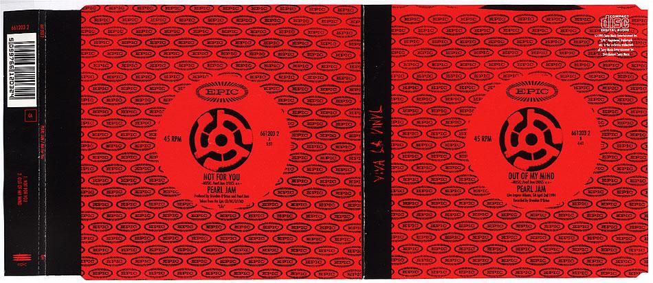 Pearl Jam Not For You 5 Cd Slimline Uk Insert