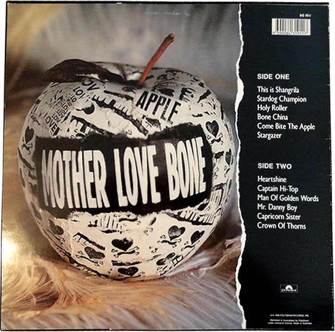 Mother Love Bone Apple 12 Black Vinyl Picture