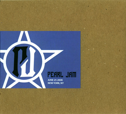 Pearl Jam - June 25 2008 New York, NY - 5'' Double CD-R - Cardboard