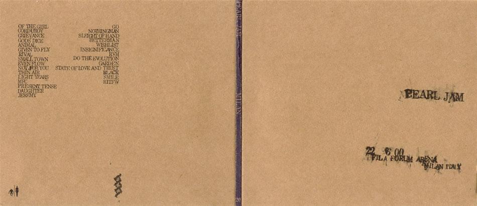 Pearl Jam - 2000 06 22 - Milan, Italy #20 - 5'' Double CD