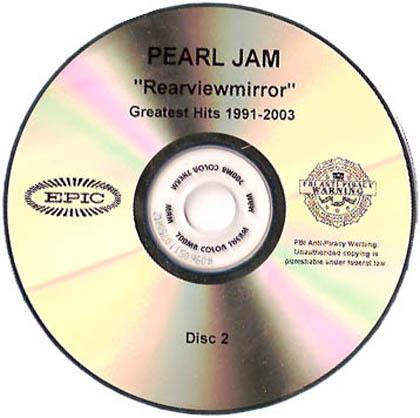 pearl jam rearviewmirror 5 39 39 double cd die cut sleeve usa cd album promo www. Black Bedroom Furniture Sets. Home Design Ideas
