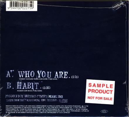 Pearl jam who you are 5 39 39 cd digipak australia for Fishs eddy coupon