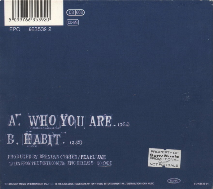 Pearl jam who you are 5 39 39 cd digipak austria for Fishs eddy coupon