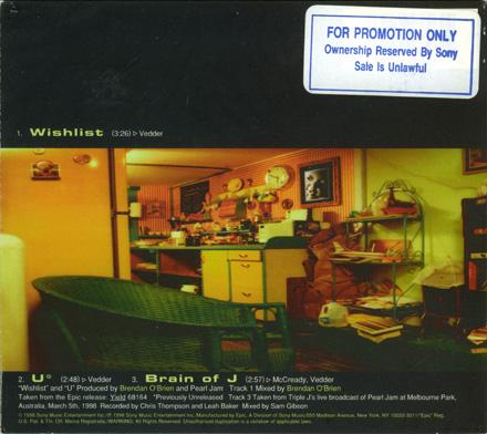 Pearl jam wishlist 5 39 39 cd digipak usa for Fishs eddy coupon
