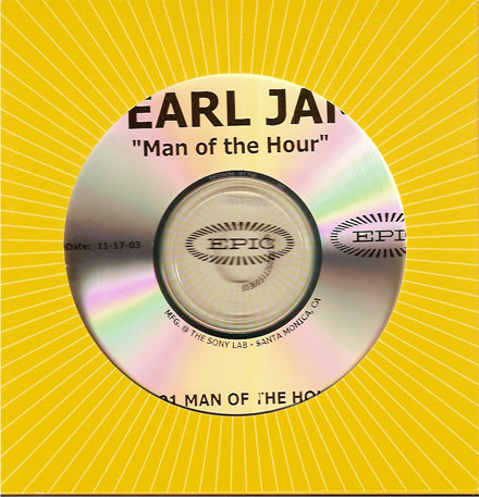 Pearl jam man of the hour printed 5 39 39 cd die cut for Fishs eddy coupon