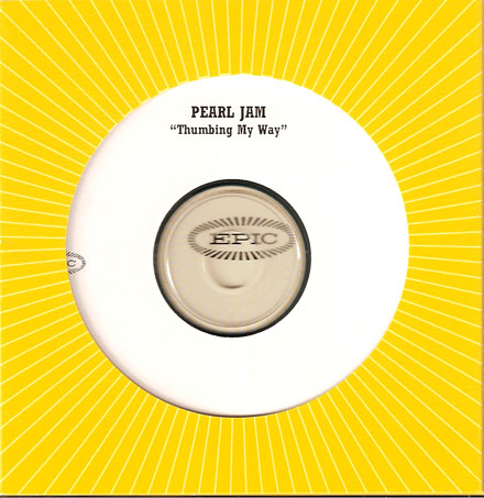 Pearl jam thumbing my way 5 39 39 cd die cut sleeve for Fishs eddy coupon