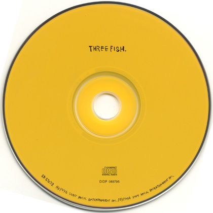Three fish three fish yellow disc 5 39 39 cd die cut for Fishs eddy coupon