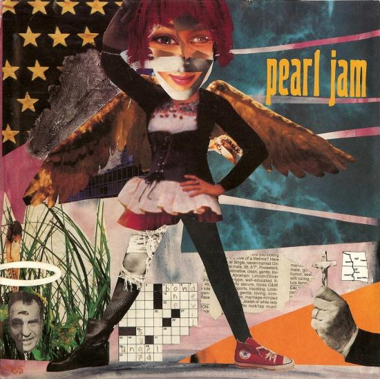 Pearl Jam Angel 7 Black Vinyl Picture Sleeve Usa